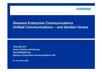 Siemens Enterprise Communications Unified ... - KFH