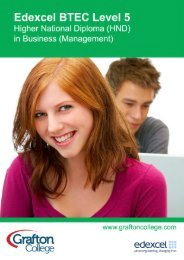 BTEC Higher National Diploma in Business (Management)