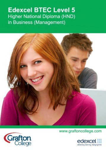 Btec higher national in business study