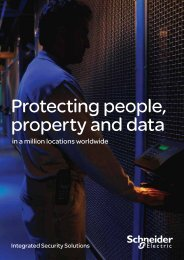 Protecting people, property and data - Schneider Electric