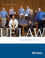 2009 REPORT FROM THE FACULTY - Levin College of Law ...