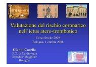 Casella G., Valutazione del rischio coronarico nell'ictus ... - Anmco