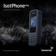 IsatPhone Pro - FAQs (Inmarsat) - Stratos Global Corporation