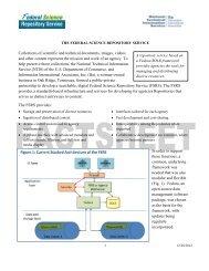 FSRS Technical Factsheet - National Technical Information Service