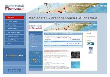 Mediadaten 2008 | Branchenbuch IT-Sicherheit - Der Marktplatz IT ...