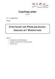 August 2012 - V.I.E.L Coaching + Training