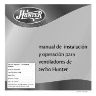 Para sus registros y Asistencia de garantía Nombre de ... - Hunter Fan