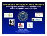 Systems biology of renal disease - UMHS/PUHSC - Joint Institute for ...