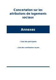 Annexes - Ministère de l'Egalité des territoires et du Logement