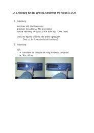 1-2-3 Anleitung für das schnelle Aufnehmen mit Fostex D 2424 (pdf)
