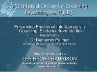 Emotional Intelligence Presentation - APS Member Groups