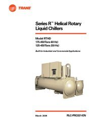 Series R™ Helical Rotary Liquid Chillers Model RTHD 175-450 ...