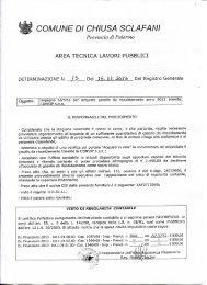 Impegno somme per acquisto gasolio da riscaldamento anno 2013 ...
