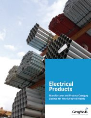 Graybar Electrical Products Line Card
