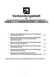 Änderung der Diplomprüfungsordnung des Studienganges
