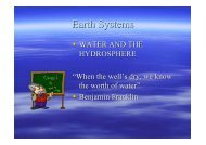 Earth Systems water