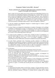 "Programme ""Hubert Curien (PHC) - Brancusi"" - uefiscdi"