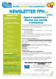 newsletter FPH juin 2012 - Ville de Roubaix