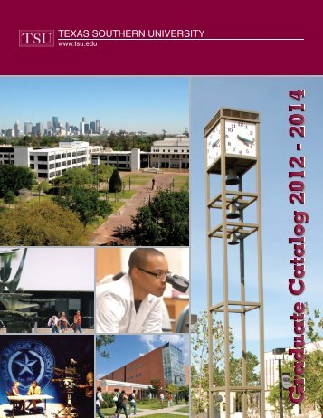 Graduate Catalog - Texas Southern University: ::em.tsu.edu