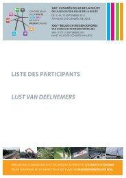 Lijst van deelnemers - Congrès belge de la route
