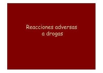 Reacciones por drogas