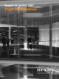 Rapport de gestion 2007 - Nexity