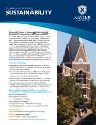 Download the Sustainability - Xavier University
