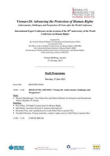 Draft Programme_Vie+20 - Ludwig Boltzmann Institut für ...