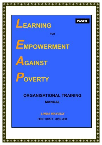 PALS Organisational Learning Manual - WEMANResources