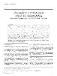 The shoulder in a production line: clinical and ultrasound study
