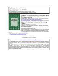 Communications in Soil Science and Plant Analysis - UNESP