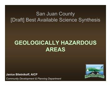 Geologically Hazardous Areas Presentation