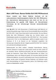 MediaInfo Buffalo Bull SHD PROfessional D - Banner GmbH