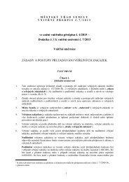 Zásady a postupy při zadáváni veřejných zakázek - Semily