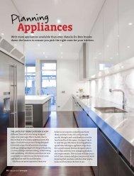 Planning Appliances - Du Bois Design