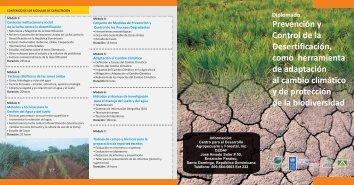 Prevención y Control de la Desertificación, como ... - CEDAF