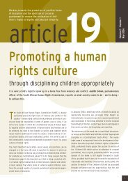 Article 19 Volume 2 Number 1 - May 2006 - Community Law Centre