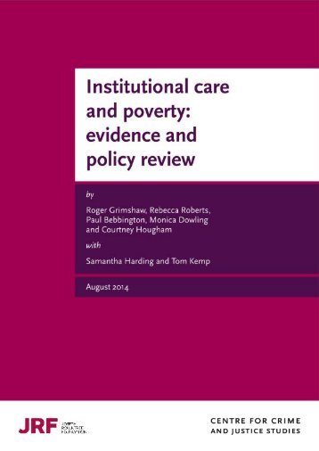 Institutional Care and Poverty Report August 2014