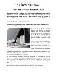 INSPIRED LIVING: November 2011 - The Laminex Group