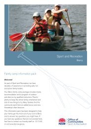 Family Information Pack - Berry - NSW Sport and Recreation