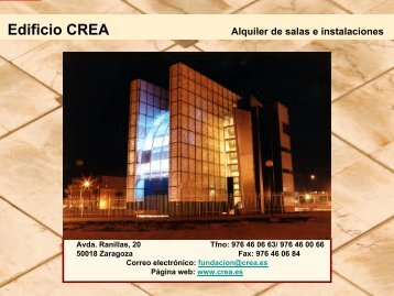 Alquiler de salas - Crea