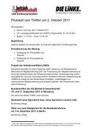 Protokoll vom Treffen am 2. Oktober 2011 - DIE LINKE. Schleswig ...