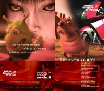 three-year courses - Istituto Europeo di Design
