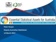 Peter Harper Deputy Australian Statistician 14 March 2013