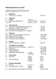Räddningstjänstens taxa 2007