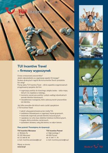 TUI Incentive Travel – firmowy wypoczynek