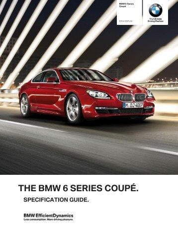 6 Series Coupé Dealer Specification Guide - BMW