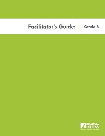 Facilitator's Guide: Grade 8 - WaytogoRI.org