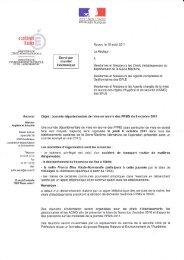 courrier envoyé en août 2011 aux lycées et collèges - Risques ...