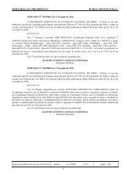 PORTARIAS DA PRESIDÊNCIA PUBLICADO EM 17.06.11 - Funai